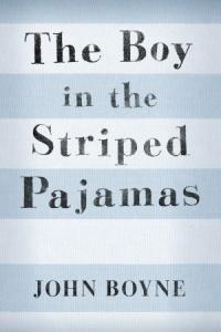 boy in striped pjs